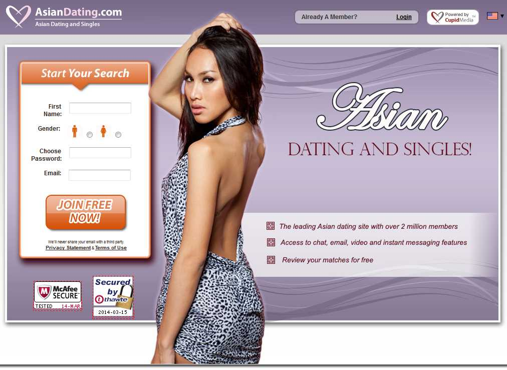 best asian dating site in usa Pinkcupid is a leading lesbian dating cupid media network that operates over 30 reputable niche dating sites is made up of women from usa.