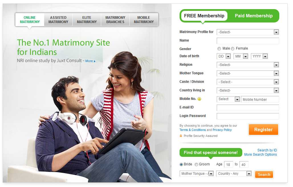 Online dating service reviews