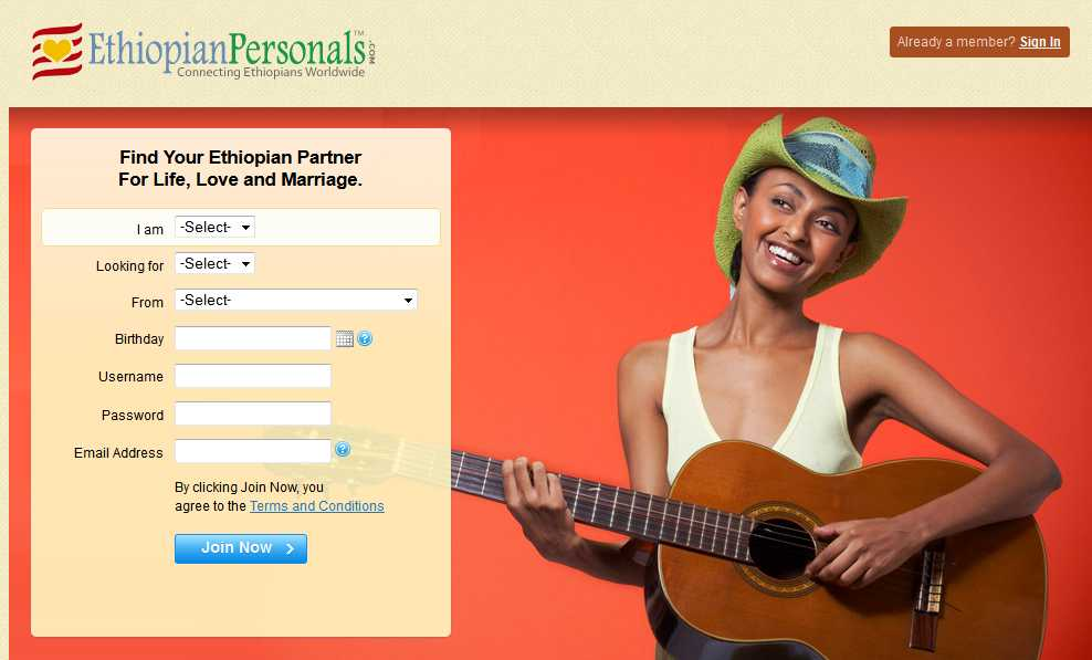 Ethiopian online dating site