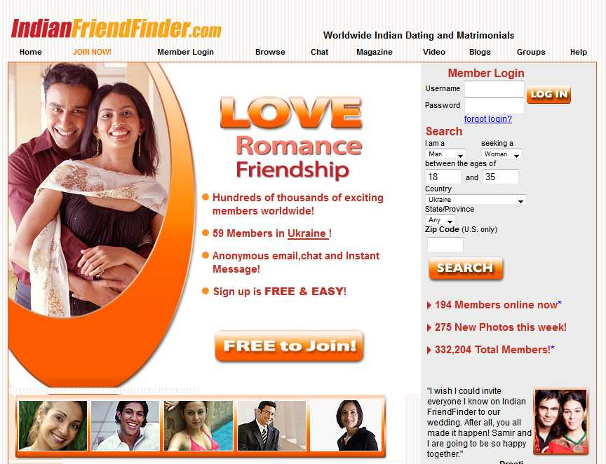 dating site for indians free